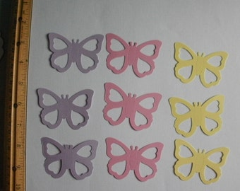 9 Die Cut Card Stock Pastel Butterflies Sizzix Brand