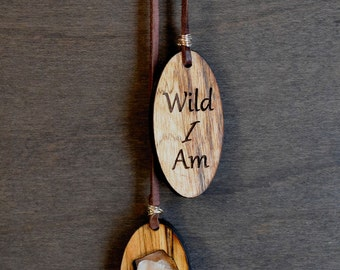 Wild I Am Boho Leather Necklace