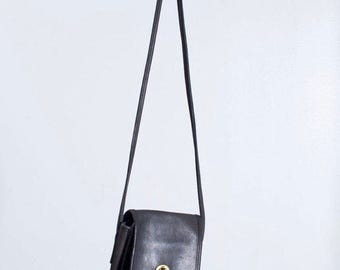 Vintage Coach Scooter Bag | Small Black Leather Crossbody Purse