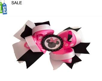 Girl hair bow, Minnie girl hair bow, baby hair bow, toddler hair bow, kids hair bow ,  hair bow, girls hair bow