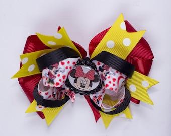 Girl Minnie Mouse hair bow,  Girl Minnie hair bow, Girl hair bow,  girl hair bow, Minnie  girl hair bow, Minnie Disney hair bow