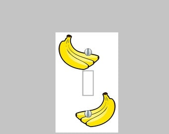 Light Switch Plate Cover Bananas Kitchen Wall Art Home Decor Cafe Kids Room