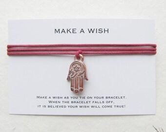 Wish bracelet, make a wish bracelet, hamsa bracelet, W42