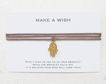 Wish bracelet, make a wish bracelet, hamsa bracelet, W59