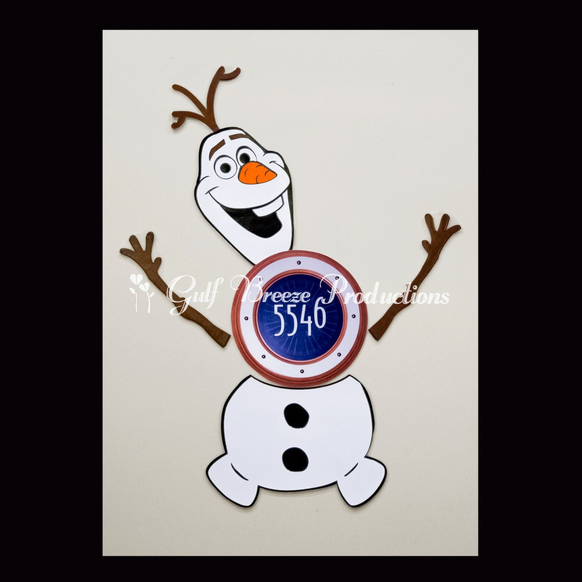 Frozen Olaf Snowman Stateroom Door Magnets For Disney Cruise