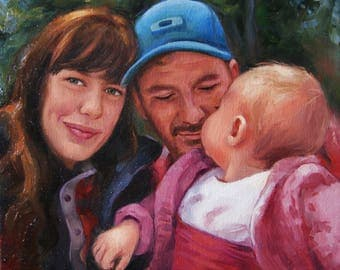 Custom family portrait Photo to Painting photo to canvas