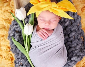 MUSTARD Gorgeous Wrap- headwrap; fabric head wrap; yellow head wrap; boho; newborn headband; baby headband; toddler headband