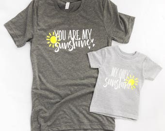 You Are My Sunshine Mommy and Me Set | Gender Neutral Bodysuit | Mommy and Me Shirt | Mommy and Son Set | Mom Daughter Shirt Set
