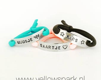 S.O.S. children's bracelet with name and phone number