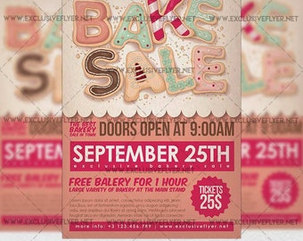 Bakery Sale - Premium A5 Flyer Template + Instagram Size Flyer