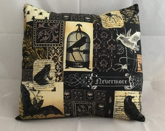 Nevermore Edgar Allen Poe cushion cover