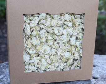 BULK White LARKSPUR Petals - 10 Cups Natural Supply / Dried Flower Confetti / Biodegradable Confetti