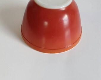 Pyrex Flameglo Red-Orange Mixing Bowl #401