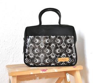 NEW, top handle bag, black purse, canvas handbag, canvas purse, designer bags, unique bag, small handbag, diaper bag - Made To Order