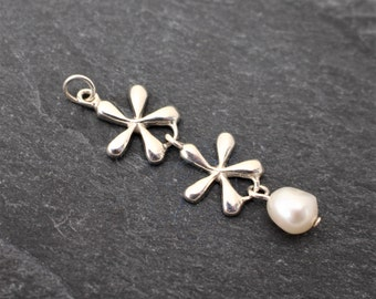 Blossom Pendant -  Sterling Silver, Freshwater Pearl