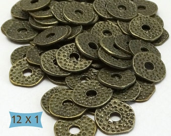 Thin Rustic Brass Ring Spacers--50 Pcs | 8-204-50