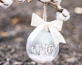 Custom Holiday Ornament, Personalized Christmas Ornament Name, Custom Snow Globe Ornament, Frosted Snow Globe Ornament Personalized Ornament