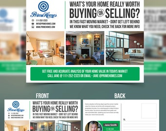 Real Estate advertising Postcard Template - Editable in Microsoft Word, Powerpoint, publisher, Photoshop template -INSTANT DOWNLOAD-KOR-003A
