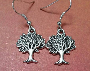 Nickel Free Tree of Life Dangle Earrings, Pierced Earrings, Australian Made, Gift for Her, Tree of Life Gift, Ladies Gift, Boho Earrings