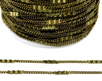 10 meters ( 33 Feet ) Wire Thickness : 0.30 mm Chain, Antique Bronze Tone, Free Yes