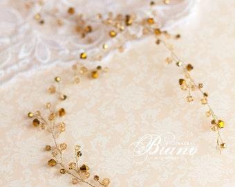 Bridal Hair Vine, Wedding Tiara, Wedding Headband, Crystal Long Hair Piece, Wedding Hair Wreath, Boho Headpiece, Wedding Hair Accessory