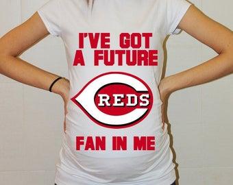 Cincinnati Reds Baby Cincinnati Reds Shirt Women Maternity Shirt Funny Baseball Pregnancy Pregnancy Shirts Pregnancy Clothing