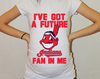 Cleveland Indians Baby Cleveland Indians Shirt Women Maternity Shirt Funny Baseball Pregnancy Pregnancy Shirts Pregnancy Clothing