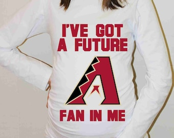 Arizona Diamondbacks Shirt Arizona Diamondbacks Baseball Long Sleeve Maternity Shirt Pregnancy Baby Shower