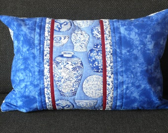 cushion with Delft Blue