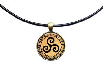 Druid jewelry Rune necklace Occult pendant