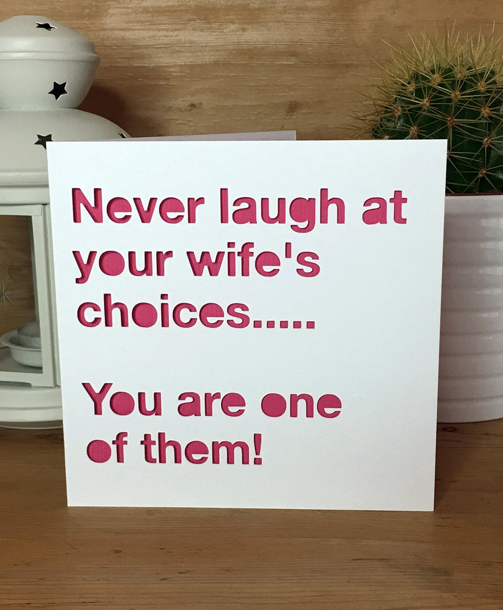 Funny Wedding Anniversary: Funny Anniversary Card Wedding Anniversary Husband Wife