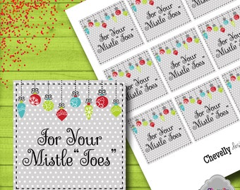 For Your Mistletoes Gift Tag - INSTANT DOWNLOAD -  XMAS003 - Printable - Christmas gift tag, holiday gift