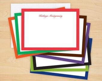 Bold Bordered Correspondence Cards - WBC