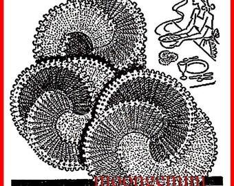 Crochet Doily Mats Set - Three-In-One Vitnage Pattern Hot Dish Pad