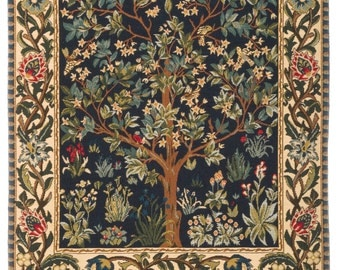 Tree of Life tapestry wall hanging - Tree of Life wall hanging tapestry - William Morris wall tapestry - William Morris Decor - WT-1085