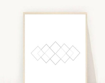 Geometric Art Print, Printable Art, Grey Wall Print, Abstract Art Print, Modern Wall Art, Minimalist Wall Art, Digital download