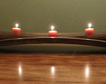 Tri-Stave tealight candle holder