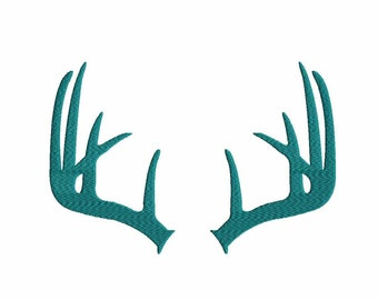 Deer Antlers Embroidery Design, Fall Instant Download digital file in PES, EXP, VIP, Hus, Xxx and Jef