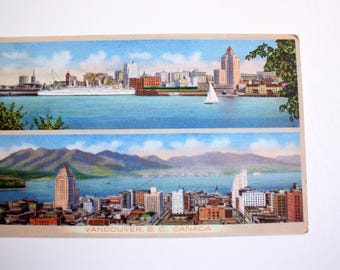 Vancouver British Columbia Postcard / Early Vancouver Postcard / The Coast Publishing Co. 2A-H272
