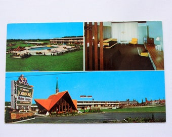 Howard Johnson's Motor Lodge Maple Shade New York postcard / Vintage Motel Poscard / Vintage Howard Johnson's
