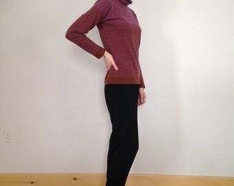 50% off sale! 70s striped wool turtleneck (s/m)