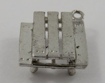 Picnic Table Sterling Silver Vintage Charm For Bracelet