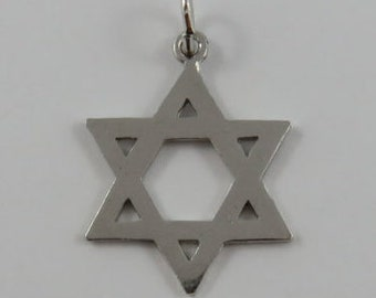 Star of David Sterling Silver Vintage Charm For Bracelet