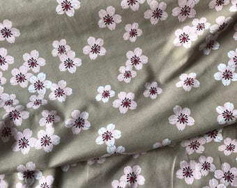Cherry Blossoms from the Japan Garden Collection by Susalbim for Lillestoff Organic Jersey GOTS Cotton Lycra - UK seller