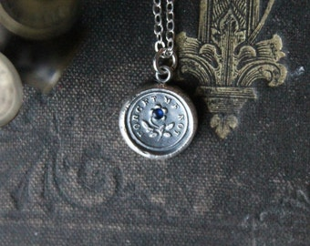 Forget me not fine silver charm