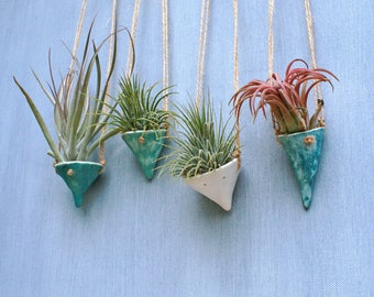 Pixie Pots air plant hangers/ ceramic planter/ tillandsia/ porcelain/ pastel shades/ home decor/ artful living/ boho/ sustainable gifts
