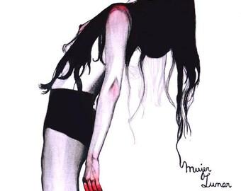 Illustration: Lunar woman Print
