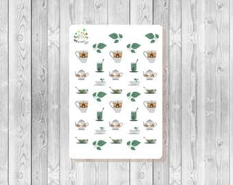 S094 - 34 Tea Planner Stickers