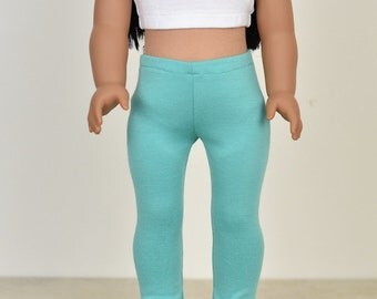 18 inch doll clothes Leggings Color Mint