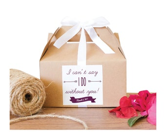 I can't say I DO without you! / Bridal Party Question Boxes / Bridesmaids' Gift Boxes / Bridesmaids' Favors-GBW-57